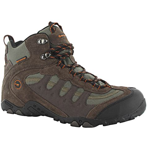 mens hi tec boots hi tec mens penrith mid wp walking boots waterproof trail