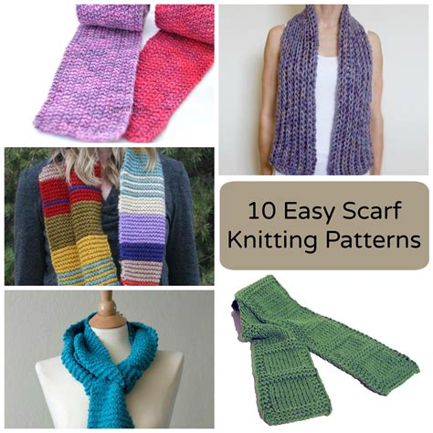knitting stitches for a scarf 10 easy scarf knitting patterns for beginners