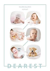 collage template baby ashedesign six photo collage maker make six photo collages