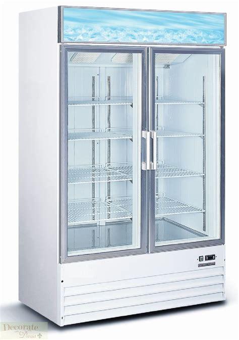 50 Quot Refrigerator Restaurant Double Glass Door Reach In 32 Glass Door Commercial Refrigerator