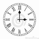 Plain Roman Numeral Clock Face On White Royalty Free Stock Images ...