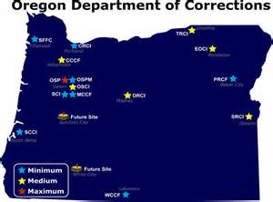 offender map oregon doc human resources division correctional officer staffing