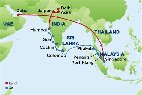 uae map with distance india dubai map