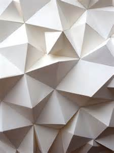 Folded Paper Painting - striking origami inspired 3d geometric paper sculptures