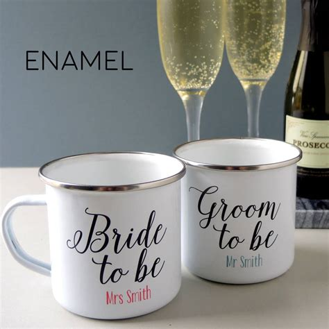 Mug Groom 3 and groom to be pair of engagement mugs by the