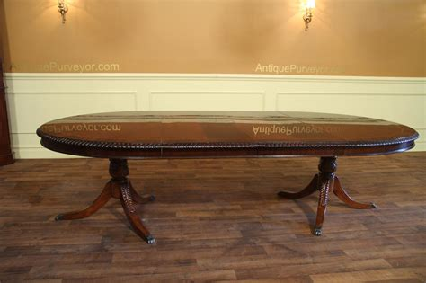 double pedestal dining table oval double pedestal dining table american made