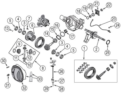 Ring Side L Grand Hilux jeep grand wk chrysler 8 1 4 quot rear axle parts