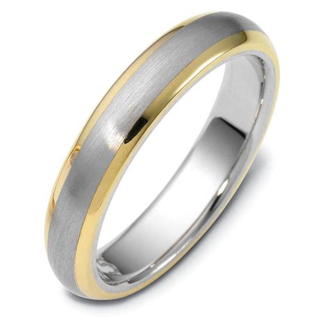 115751pe Platinum Gold Comfort Fit Wedding Band
