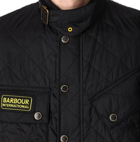 Barbour Black Quilted Jacket by Barbour Tankerville Quilted Jacket In Black For Lyst