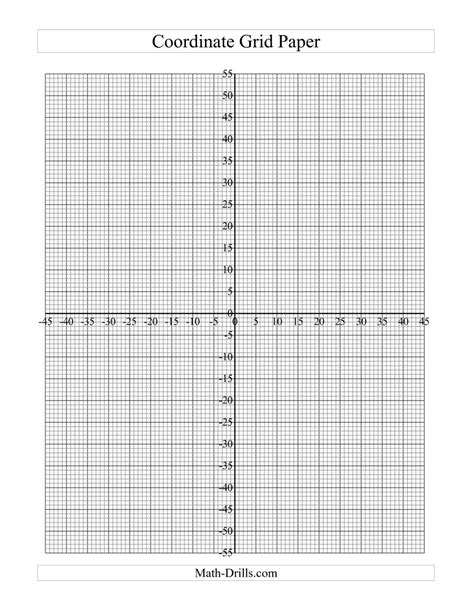 printable graph paper math drills coordinate grid paper c