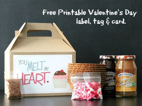 printable valentines day label tag  card
