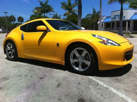 yellow nissan 370z for sale find used 2009 nissan 370z touring coupe chicane yellow