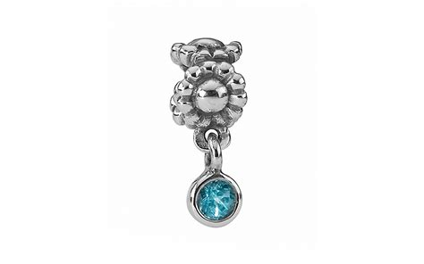 pandora dangle charm sterling silver blue topaz