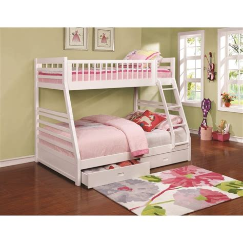 Bunkies For Bunk Beds Coaster Bunk Bed With 2 Drawers In White 460180
