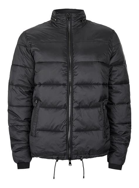 puffer jacket black puffer jacket topman