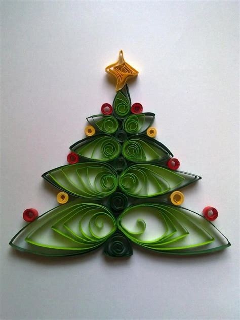 quilling christmas tree papet decor pinterest