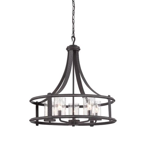 Artisan Chandelier Designers Palencia 5 Light Artisan Pardo Wash Interior Incandescent Chandelier 87585