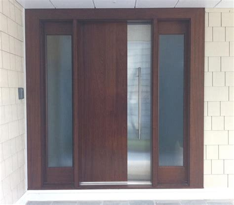 Contemporary Wood Doors Exterior Ervin Contemporary Front Doors Other Metro By