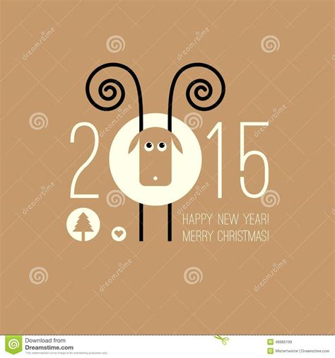 new year ram vector zodiac 2015 year of the sheep ram goat stock