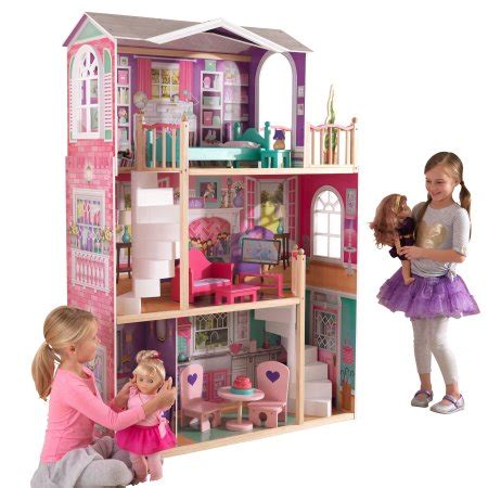 dollhouse for 4 inch dolls kidkraft 18 inch dollhouse doll manor with 12 accessories