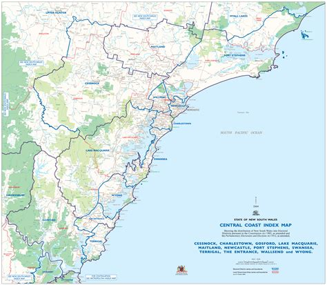 map of the central coast central coast map mapsof net