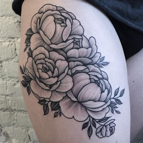 30 beautiful black and grey ink floral tattoos from sasha