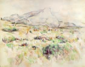 water color artists webmuseum cиzanne paul le mont sainte victoire