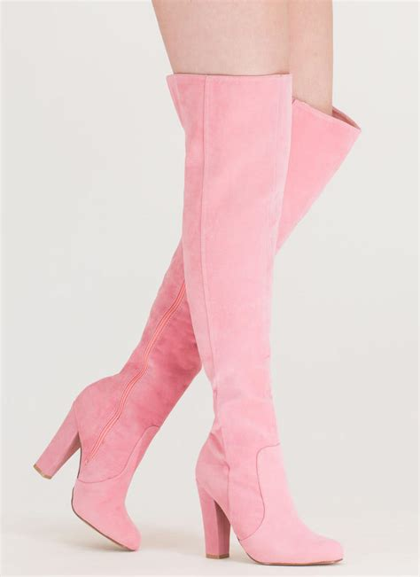 Boots Pink Black walking the knee boots black pink mocha