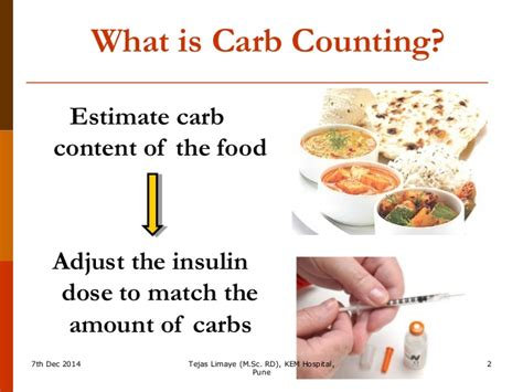 carbohydrates counting carbohydrate counting for insulin dose adjustment