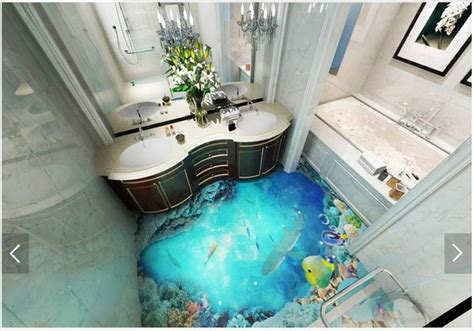 3d bathroom floor painting aliexpress com buy 3d wallpaper customized 3d floor
