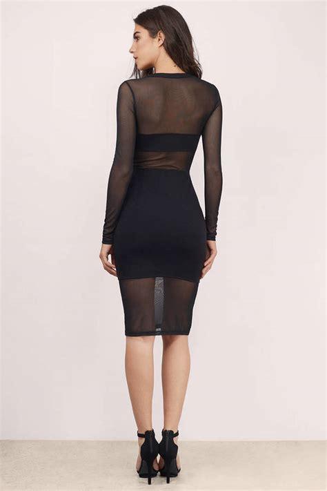 black midi dress black dress mesh dress  tobi