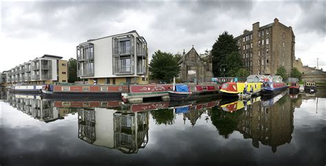 living on a boat edinburgh works at boroughmuir union canal scottish canals
