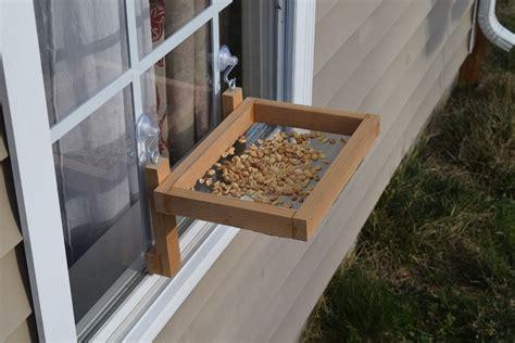 How To Make A Window Bird Feeder how to make a window bird feeder woodlogger
