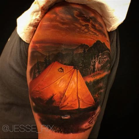 yellow tent tattoo best tattoo ideas gallery