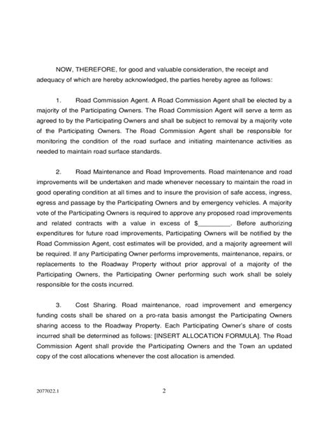 Private Road Maintenance Agreement Los Altos Hills California Free Download Road Maintenance Agreement Template