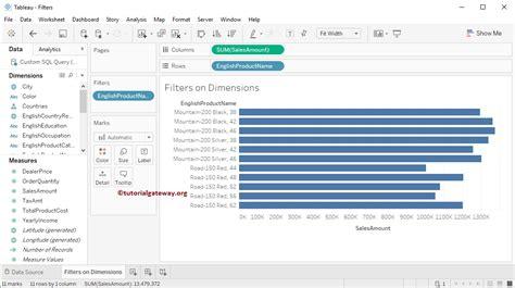 tableau gateway tutorial tableau filters on dimensions