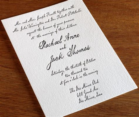 Wedding Invitations With Divorced Parents wedding invitation wording divorced parents letterpress