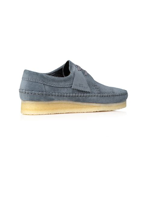 Clarks Originals Slate Blue 1 Clarks Originals Weaver Suede Slate Blue