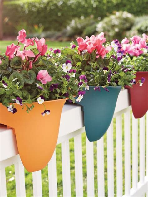 planters for railings best 25 deck railing planters ideas only on