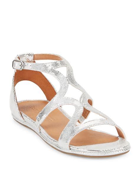gentle souls gladiator sandals gentle souls oak snake print leather gladiator sandals in