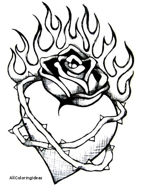 coloring pages of hearts with flames coloring pages of hearts with flames free download best