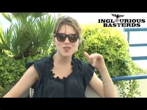 lea seydoux youtube interview l 233 a seydoux inglourious basterds interview french youtube