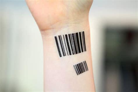 barcode tattoo temporary barcode medium spirit ink temporary tattoo