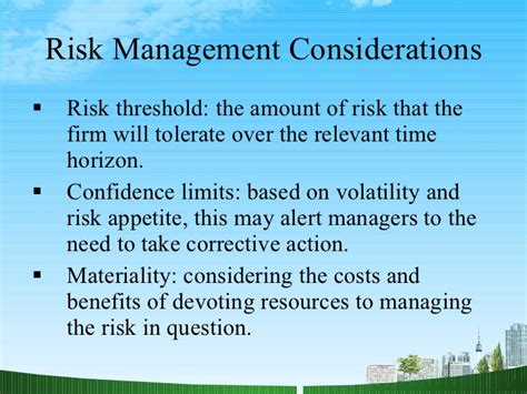 As A Risk Manager After Mba by Financial Risk Management Ppt Mba Finance