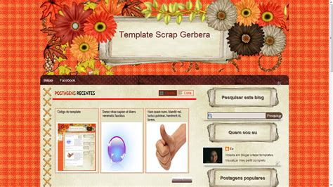 templates para blogger jogos templates gr 225 tis para blogs femininos gerbera xml