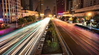 light time architecture buildings city lights motion blur light