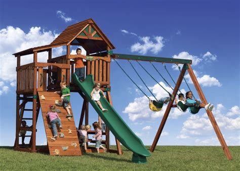backyard swing sets for kids 30 cool outdoor play sets for kids summer activities