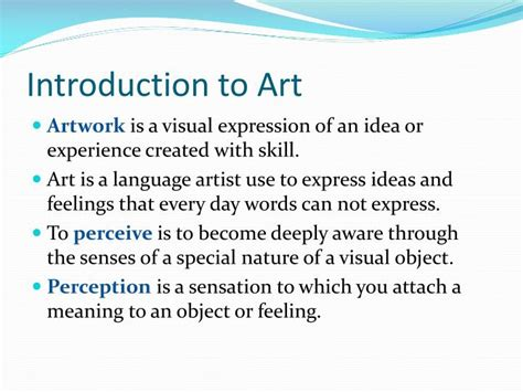 introduction to art ppt the purposes of art the language of art powerpoint presentation id 7037755