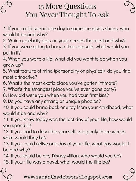 biography questions to ask get to know you questions date night pinterest