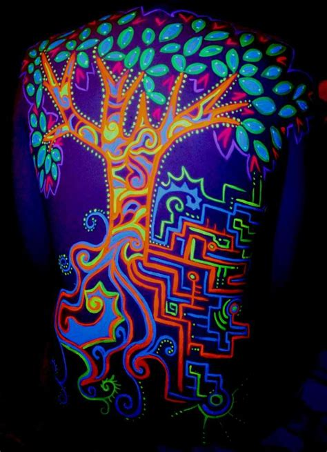 glow in the painting tree glow in the tattoos